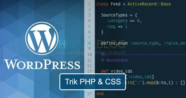 15+ Trik PHP dan CSS Blog WordPress