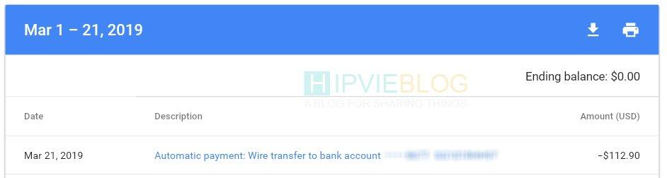 Pembayaran Wire Transfer Bank Mandiri untuk Akun Adsense bukti2