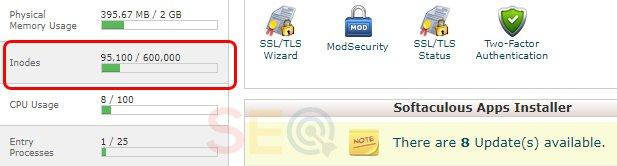 Jumlah inodes penting dalam sebuah hosting