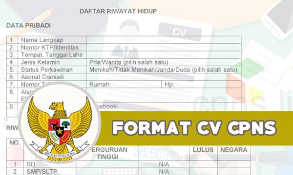 Contoh Format CV CPNS [Layout & CV Kosong CPNS]