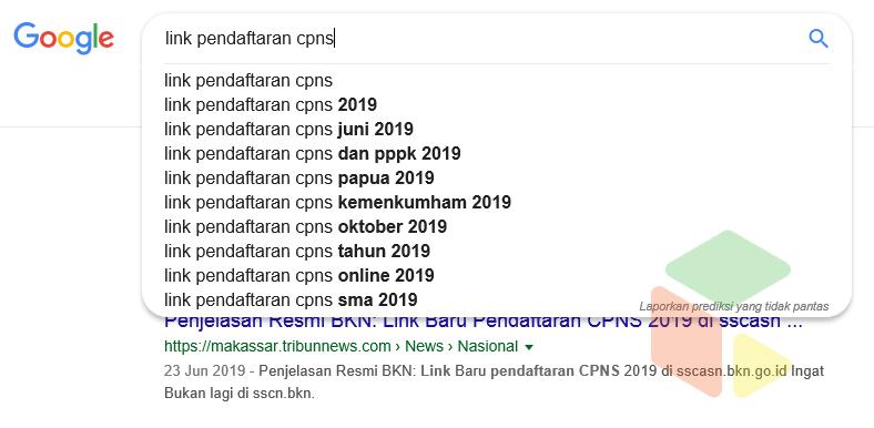 Link pendaftaran CPNS pencarian