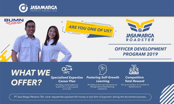 Rekrutmen Jasa Marga [Officer Development Program) Tahun 2019
