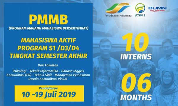 Rekrutmen PT Perkebunan Nusantara IX (PTPN 9) Tahun 2019