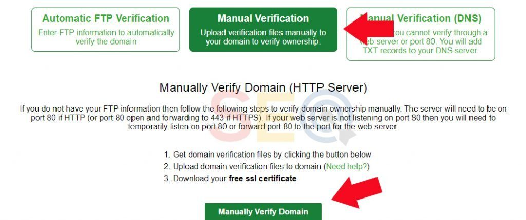 Verify free SSL