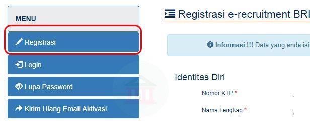 Cara registrasi online rekrutmen bank BRI