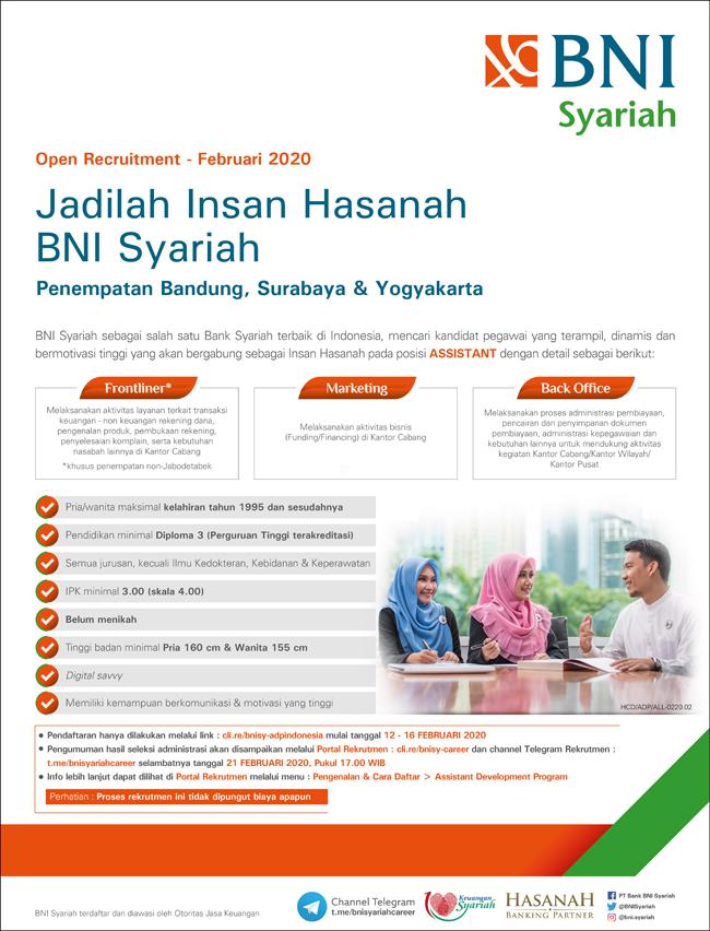 Rekrutmen bni syariah