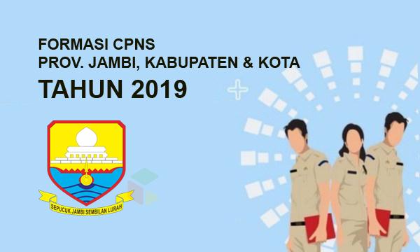 Daftar lengkap formasi CPNS Provinsi Jambi