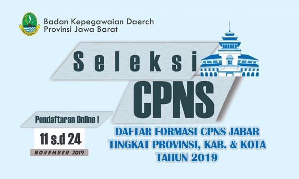 Daftar lengkap formasi CPNS Provinsi Jawa Barat
