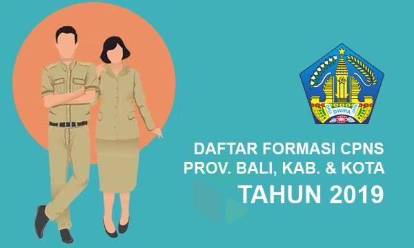 Daftar Lengkap Formasi CPNS Provinsi Bali Tahun 2019