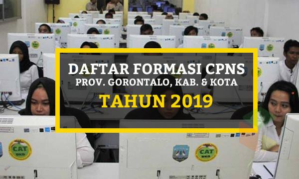Daftar Lengkap Formasi CPNS Provinsi Gorontalo 2019