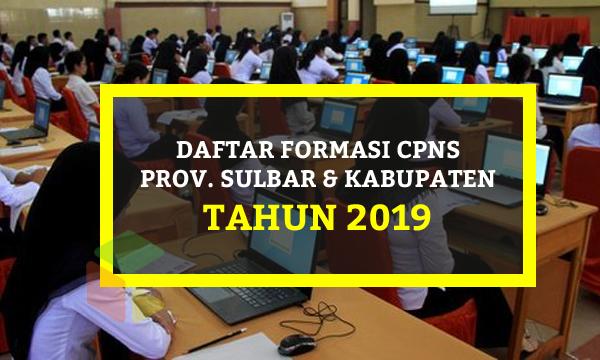 Daftar Lengkap Formasi CPNS Provinsi Sulawesi Barat 2019