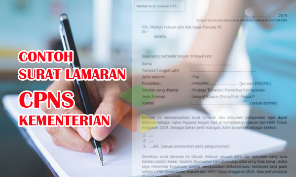 Download contoh surat lamaran CPNS Kementerian