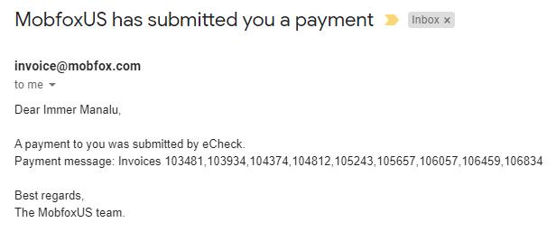 mobfox invoice