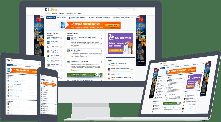 Download DlPro WordPress Theme dari IDTheme [Download Niche Sites] tampilan