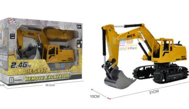 Mainan Excavator Beko, Buat Si Boy Remote Control Body Muter (Review)