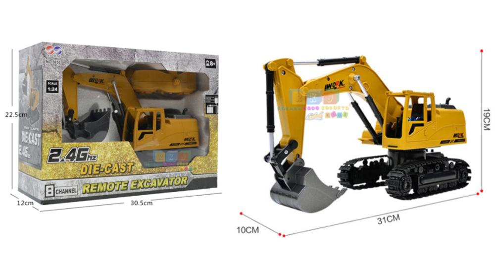 Mainan Excavator Beko, Buat Si Boy Remote Control Body Muter (Review)