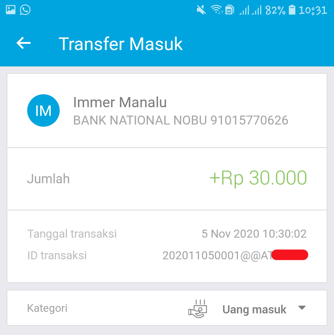 Cairkan Uang dari Webmoney ke Bank Lokal Indonesia dan bukti transfer ovo ke BTPN