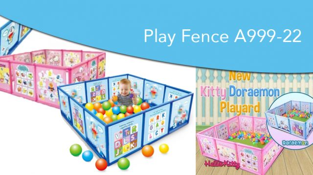 Pagar anak bayi karakter play fence