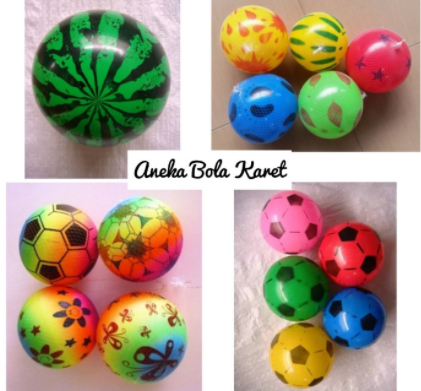 mainan bola karet anak