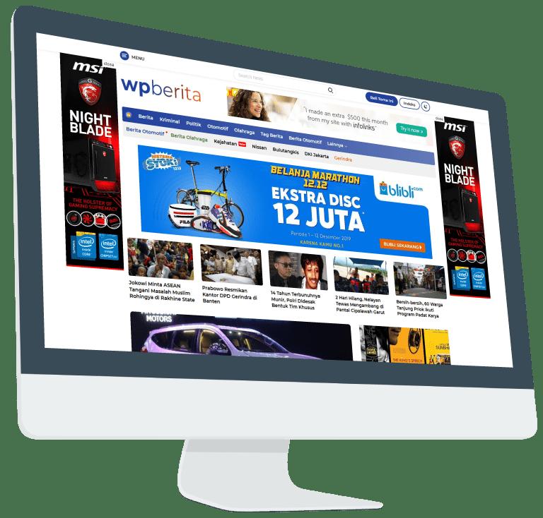 Download Wpberita WordPress Theme [Tema Niche Berita]